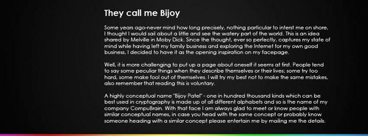 Bijoy Patel,  CompuBrain   Social Media Consultant India   Technology Consultant