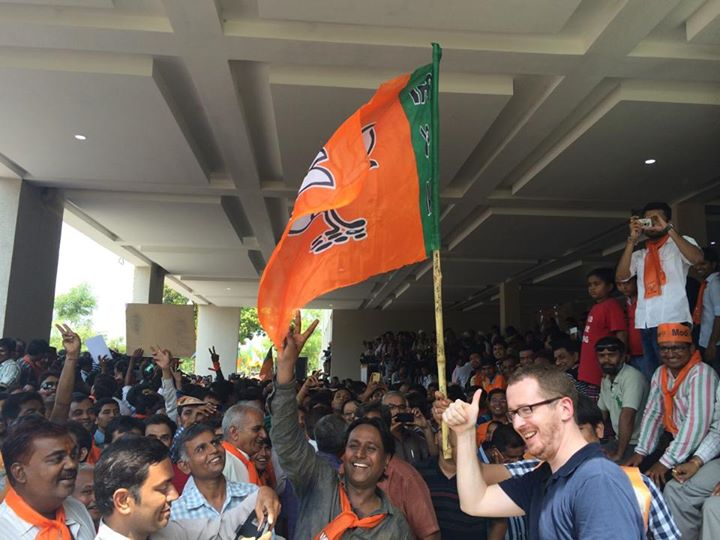 :: At the BJP Party Head Quarters :: Jubilant than ever.
