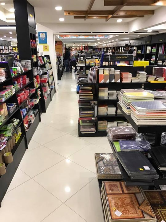 This section at Crossword used to demo & sell Music;  now cut into more than half to sell Stationery.  Remember coming here to listen songs on the jukebox mounted on the columns whilst I did not have a pair of headphones then. Listening to music here was so cool!  #RIPCDs #TechnologyBypass #gaana #saavn #primevideo #Nostalgia Shabana Shiraz Ruchi Sinha Singh Pratik Mehta Keyur Patel