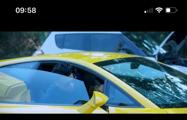 "Saw the ""lamberghini"" video song for the first time. Why do I feel the actor in the video was never allowed to drive the car across the video."