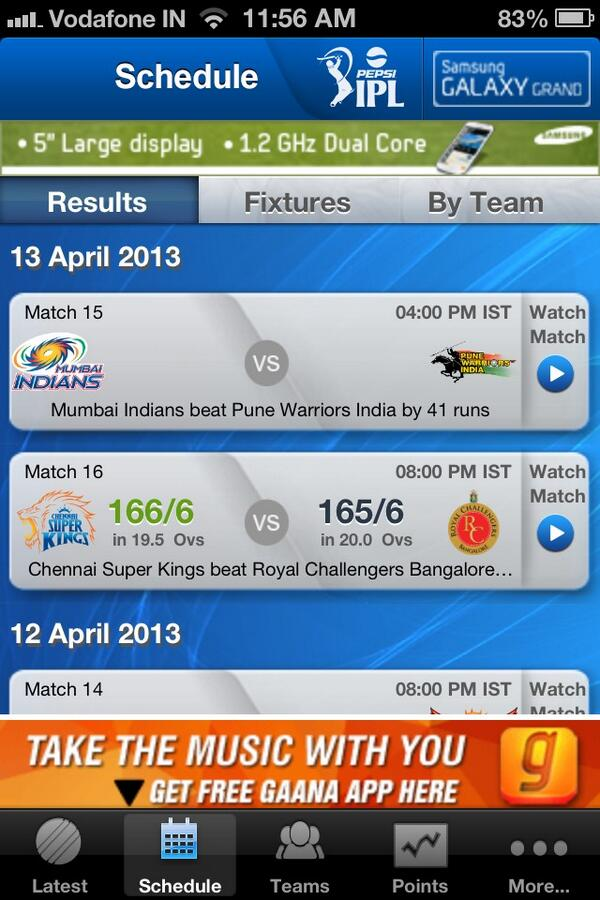 #pepsiipl Score not found with the iPhone app. :( http://t.co/NUt7uxqjrK