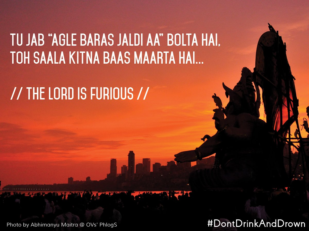 I hate this very habit of people getting drunk during Visarjan #DontDrinkandDrown @StoryPicker  PC Abhimanyu Maitra https://t.co/C6bSpIOMZP
