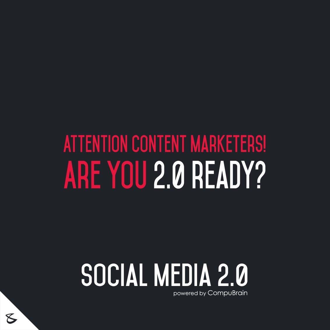 #ContentWriters #DigitalMarketing #SocialMedia2point0  #NextinSocialMedia #CompuBrain #SEO #SEM Know more on https://t.co/wjOMXbfL8A https://t.co/PxKLuqlVi1