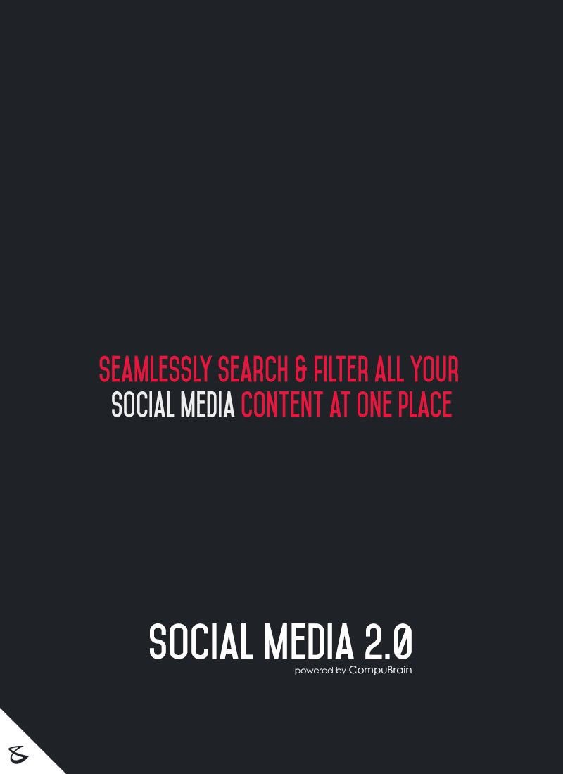 Seamlessly search & filter all your Social Media content at one place with @SM2p0 #contentstrategy #SocialMediaStrategy #SocialMediaTips https://t.co/y1kjNXWJGr