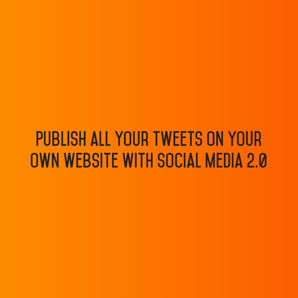 :: Publish all your #Tweets on your website with @SM2p0 ::  #sm2p0 #contentstrategy #SocialMediaStrategy #DigitalStrategy #SocialMediaTools https://t.co/GIadC808xp
