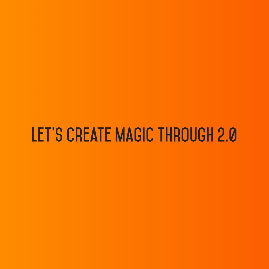 :: Let's create magic through Social Media 2.0 ::  #sm2p0 #contentstrategy #SocialMediaStrategy #DigitalStrategy #SocialMediaTools https://t.co/mQ8zPeRE62