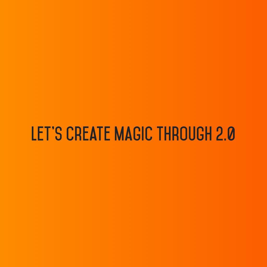 :: Let's create magic through Social Media 2.0 ::  #sm2p0 #contentstrategy #SocialMediaStrategy #DigitalStrategy #SocialMediaTools https://t.co/mQ8zPeRE62