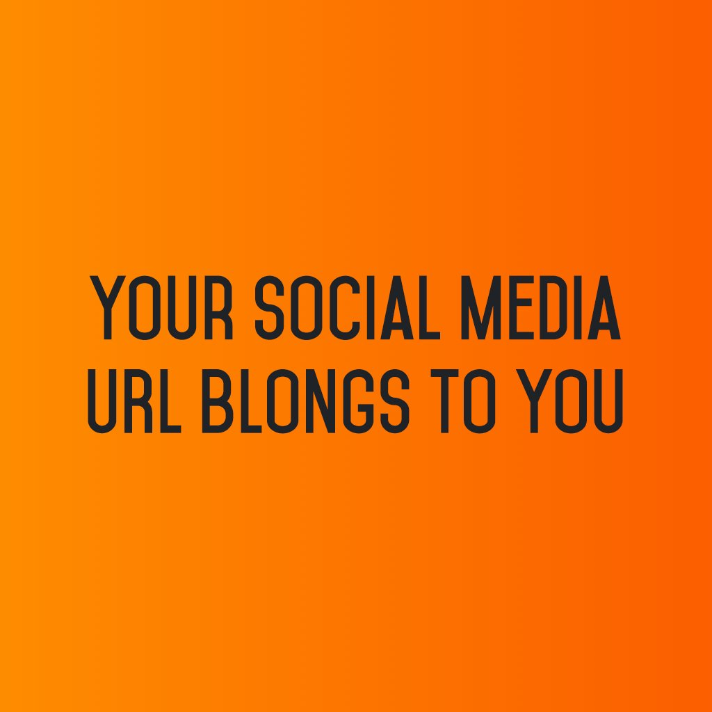 :: Your Social Media URL belongs to you ::  #sm2p0 #contentstrategy #SocialMediaStrategy #DigitalStrategy #SocialMediaTools #socialmediatips https://t.co/rUv6SFykw6