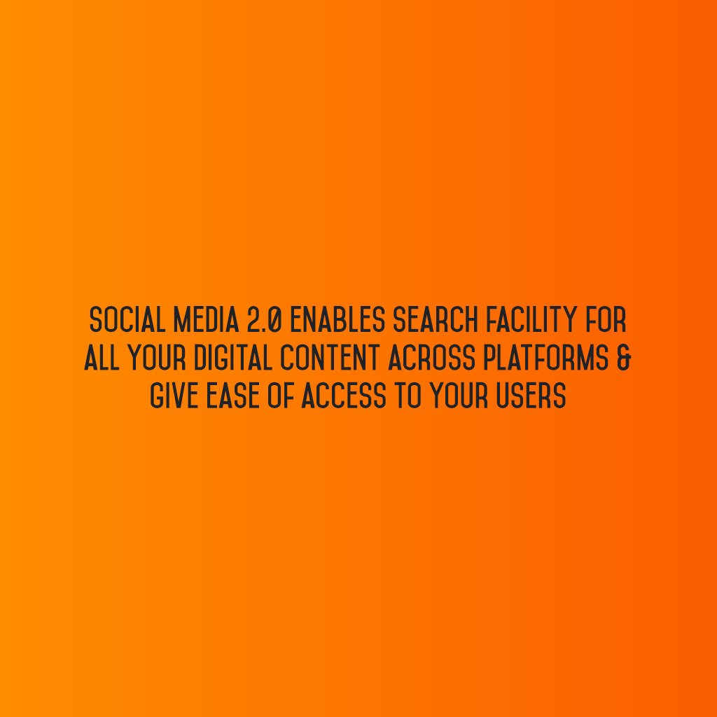 @SM2p0 enables search facility for all your #DigitalContent across platforms & give ease of access to your users #sm2p0 #contentstrategy https://t.co/v0hobETpDu