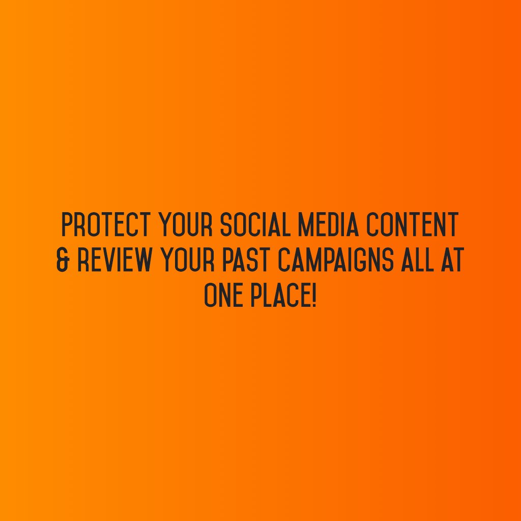 Protect your #socialmediacontent & review your past campaigns all at one place!#sm2p0 #contentstrategy #SocialMediaStrategy #DigitalStrategy https://t.co/6qvFmHfe3O