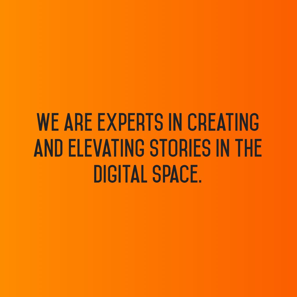 We are experts in creating and elevating stories in the digital space. #sm2p0 #contentstrategy #SocialMediaStrategy #DigitalStrategy https://t.co/ejRzAuLK2O