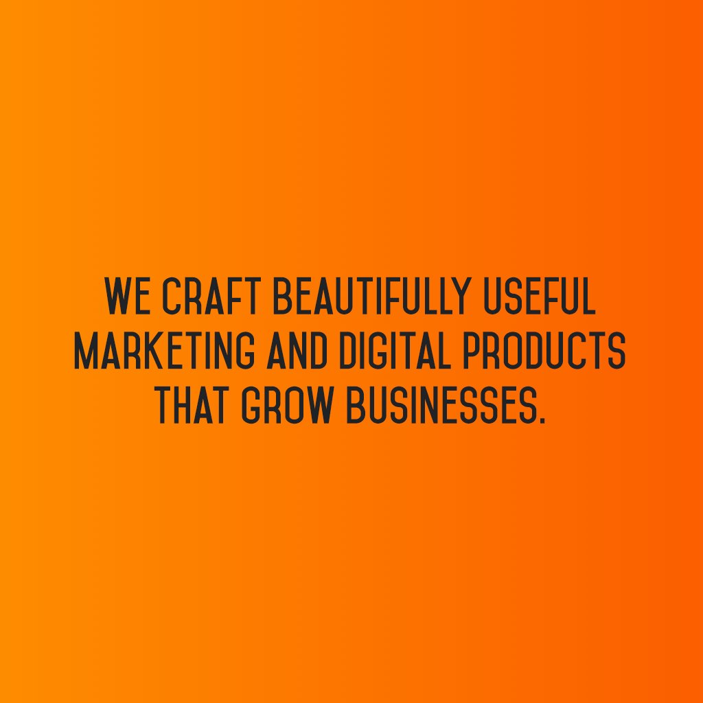 We craft beautifully useful marketing and digital products that grow businesses. #sm2p0 #contentstrategy #SocialMediaStrategy https://t.co/Cde3ST34rg