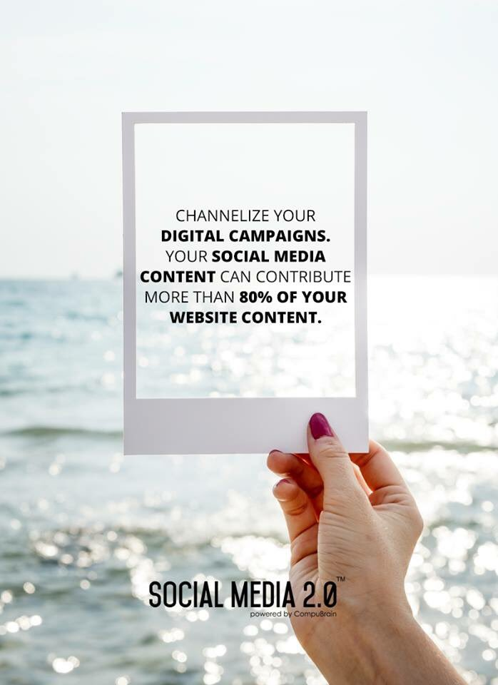 Channelize your digital campaigns using #SocialMedia2p0. Your #SocialMedia Content can contribute more than 80% of your #websitecontent. #contentstrategy https://t.co/tdShWDl7Zi https://t.co/VQTOP9uKEM