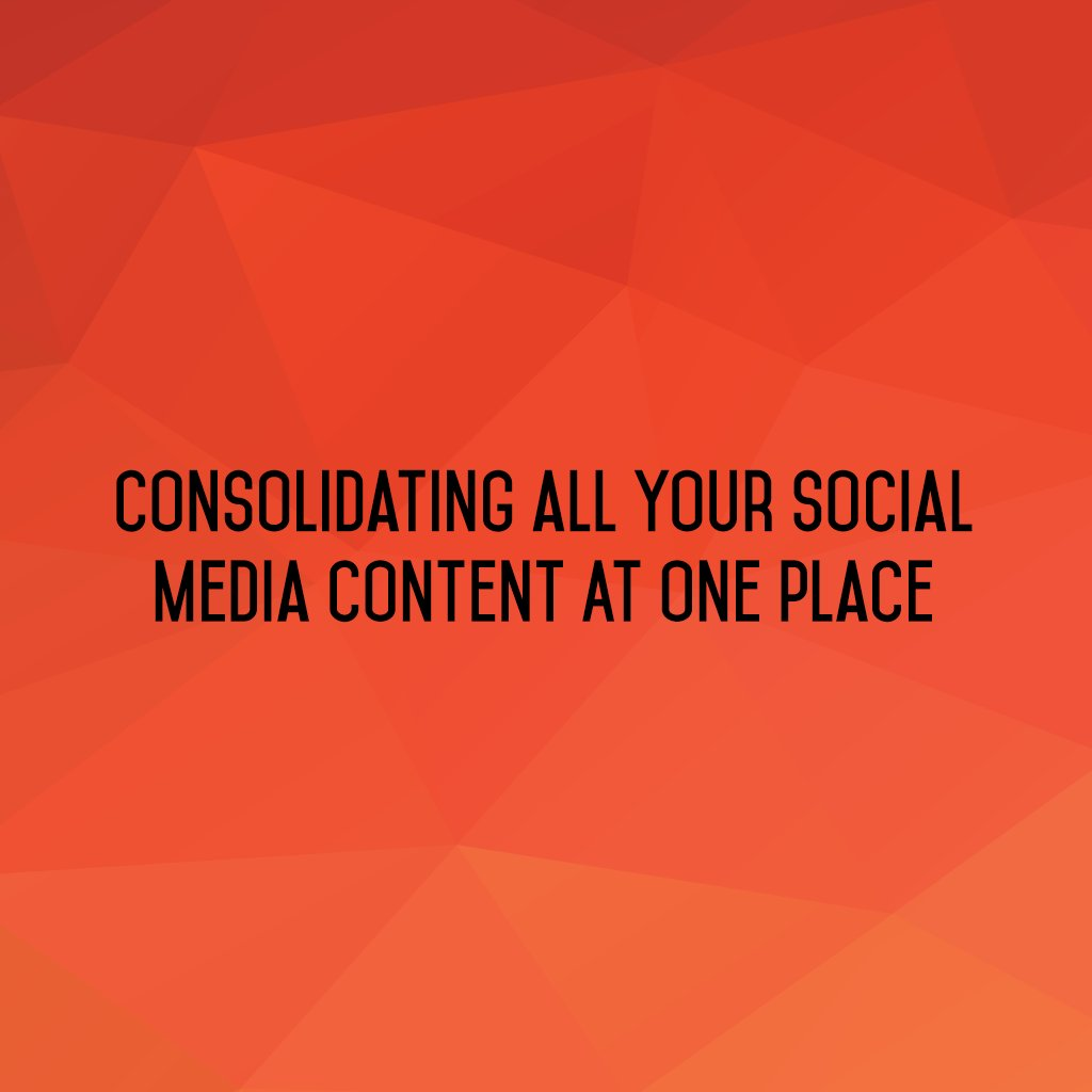 :: Consolidating all your #SocialMedia content at one place ::  #sm2p0 #SocialMediaTools #SocialMediaTips #FutureOfSocialMedia https://t.co/kdHOL3D79h