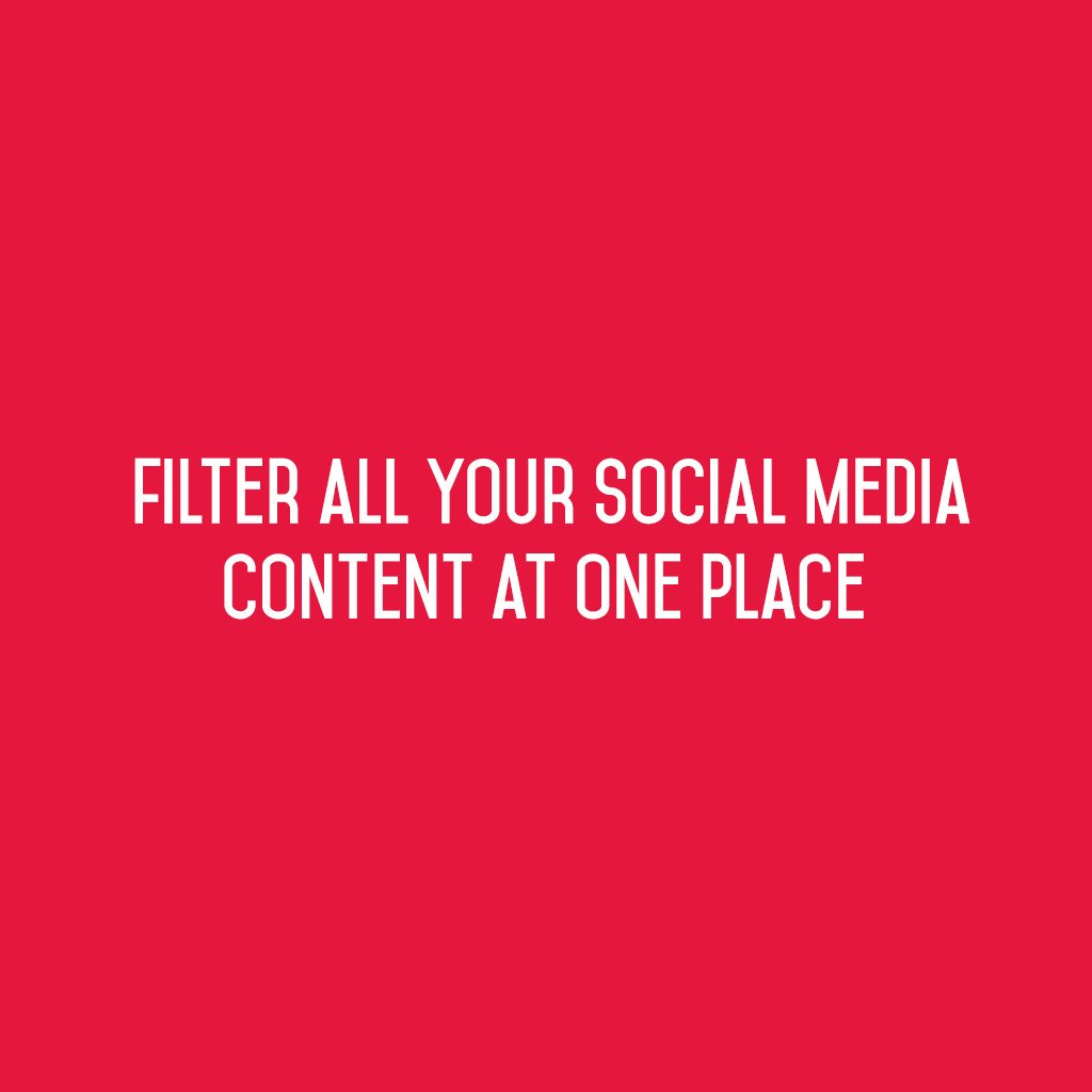 :: Filter all your Social Media Content at one place ::  #sm2p0 #contentstrategy #SocialMediaStrategy #DigitalStrategy #SocialMediaTools https://t.co/pUnXHODKwC