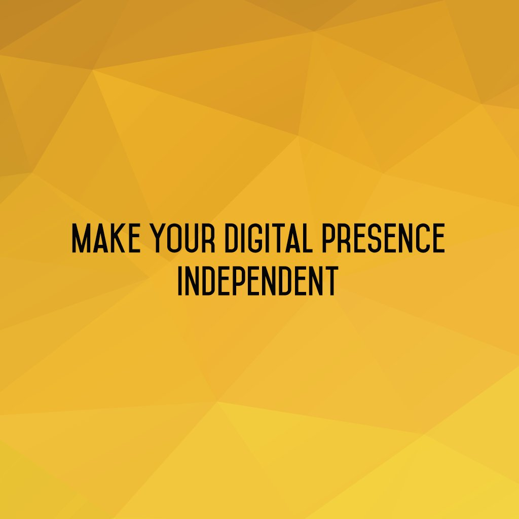 :: Make your digital presence independent ::  #sm2p0 #contentstrategy #SocialMediaStrategy #DigitalStrategy #SocialMediaTools https://t.co/P9YXhPNsBk